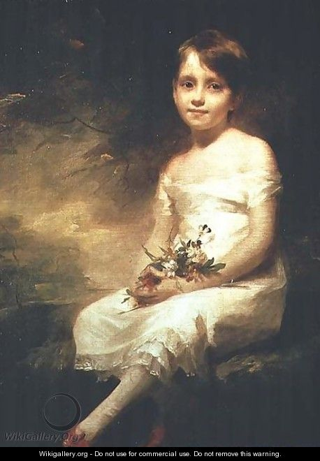Little Girl with Flowers or Innocence, Portrait of Nancy Graham - Sir Henry Raeburn