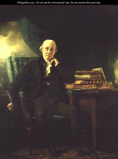 Portrait of Adam Rolland of Gask holding a quill - Sir Henry Raeburn