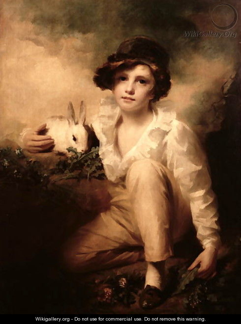 Boy and Rabbit 2 - Sir Henry Raeburn