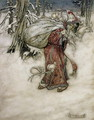 Santa Claus, illustration from Arthur Rackhams Book of Pictures, 1907, published 1913 - Arthur Rackham