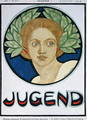 Young Woman with a wreath of laurel, illustration from Jugend Magazine, 24th July 1897 - Ludwig Raders