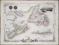 Nova Scotia and Newfoundland, from a Series of World Maps published by John Tallis and Co., New York and London, 1850s - John Rapkin