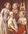The Artist and His Family - Antoine Raspal