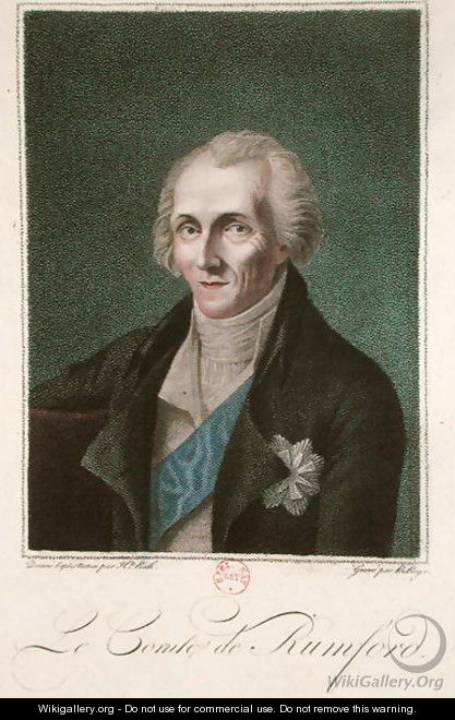 Benjamin Thompson 1753-1814 Count Rumford, engraved by B. Roger - (after) Rath, Henriette