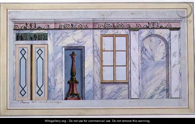 Design for an Empire Dining Room Interior, 1812 - L. Raoux