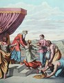 King Solomon receives the Queen of Sheba, illustration from Enseignement par les Yeux de lHistoire Sainte - (after) Raphael (Raffaello Sanzio of Urbino)