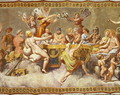 The Banquet of the Gods, ceiling painting of the Courtship and Marriage of Cupid and Psyche 2 - (after) Raphael (Raffaello Sanzio of Urbino)