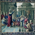 St. Paul Preaching at the Areopagus, from a series depicting the Acts of the Apostles, woven at the Beauvais Workshop under the direction of Philippe Behagle 1641-1705 1695-98 - (after) Raphael (Raffaello Sanzio of Urbino)