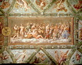 The Council of the Gods, ceiling painting of the Courtship and Marriage of Cupid and Psyche - (after) Raphael (Raffaello Sanzio of Urbino)