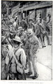 The little town was crowded with men, an illustration from With Roberts to Pretoria A Tale of the South African War by G.A. Henty, pub. London, 1902 - (after) Rainey, William