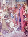 The Good King Was To Be Seen Giving Food And Drink to the Folk, plate from The Story of France, by Mary MacGregor, 1922 - (after) Rainey, William