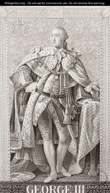 George III 1738-1820 from Illustrations of English and Scottish History Volume II - Allan Ramsay