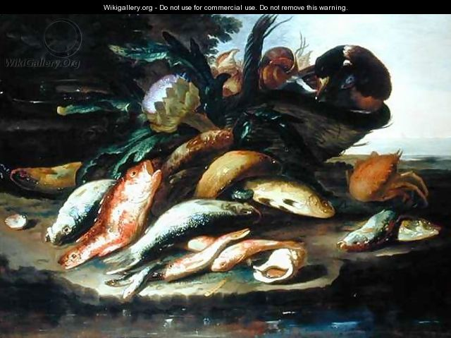 Still Life with Dead Fish and Game - Giuseppe Recco