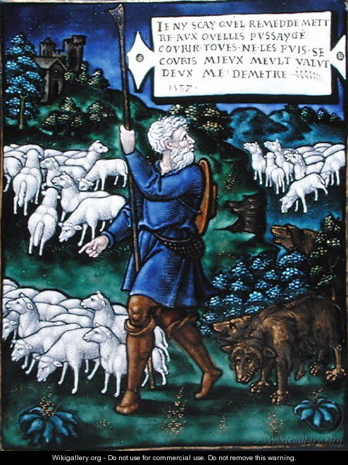 Plaque depicting the Bad Shepherd, 1537 - Pierre Raymond
