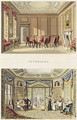 Interiors The Old Cedar Parlour and The Modern Living Room, from Fragments on the Theory and Practice of Landscape Gardening, pub. 1816 - Humphry Repton