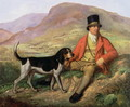 Portrait of John Peel 1776-1854 with one of his hounds - Ramsay Richard Reinagle