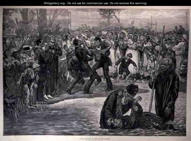 Negro Baptism in the United States, from The Illustrated London News, 21st May 1887 - (after) Regamey, Felix