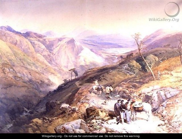 Glenshee from the Devils Elbow, Aberdeenshire, looking towards the Spital, 1853 - Thomas Miles Richardson