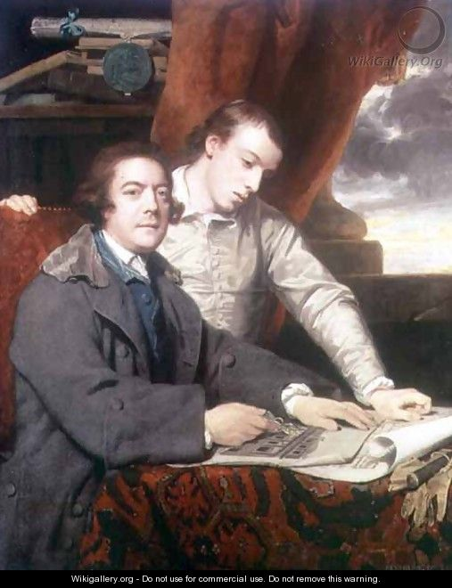 Portrait of James Paine 1717-89 architect, and his son James, 1764 - Sir Joshua Reynolds