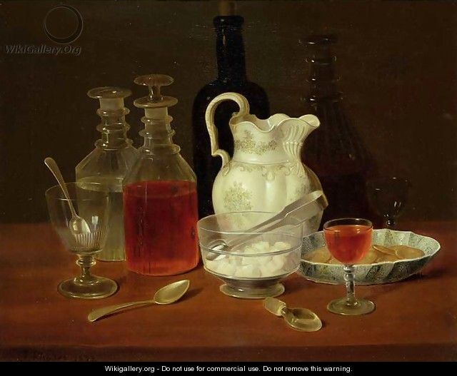 Still Life with Decanters - J. Rhodes
