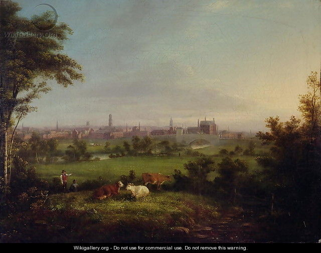 Leeds from the Meadows, c.1825 - Joseph Rhodes