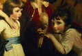 Two Girls, One Playing with a Mask, detail from the painting The Fourth Duke of Marlborough and his family, 1777-78 - Sir Joshua Reynolds