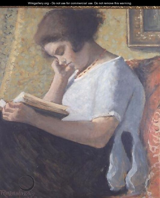 Young Girl Reading, 1920 - Armand Ressenfosse
