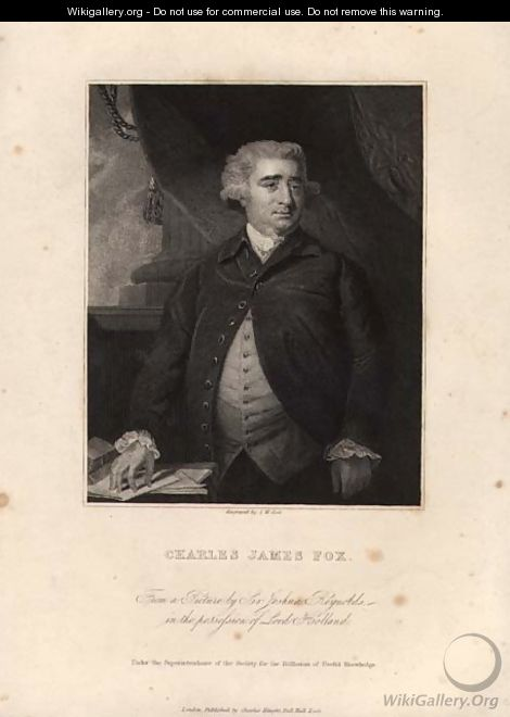 Charles James Fox 1749-1806, engraved by John William Cook - Sir Joshua Reynolds