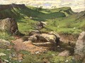 A rocky stream in a mountainous landscape, 1859 - John Ritchie