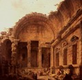 Interior of the Temple of Diana at Nimes, 1787 - Hubert Robert