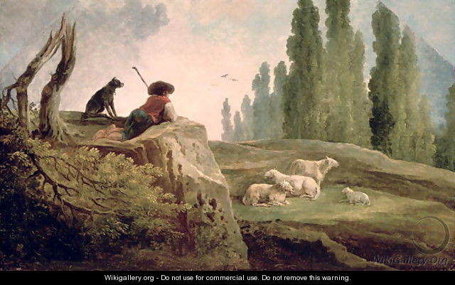 The Shepherd - Hubert Robert