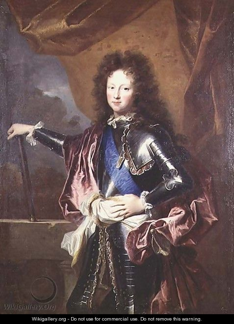 Portrait of Philippe II 1674-1723 Duke of Chartres as a Boy - Hyacinthe Rigaud