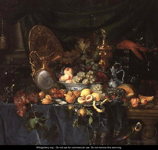 Still Life with Parrot, c.1645-60 - Pieter de Ring