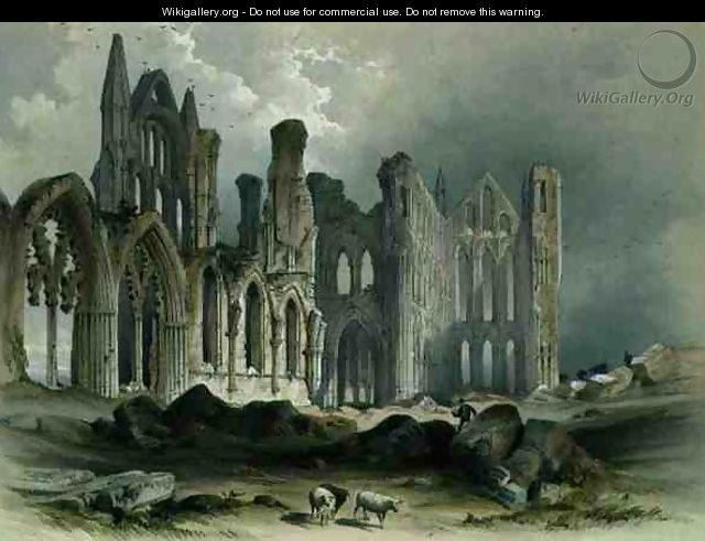 Whitby Abbey from the North-East, from The Monastic Ruins of Yorkshire, engraved by George Hawkins 1819-52, 1843 - William Richardson