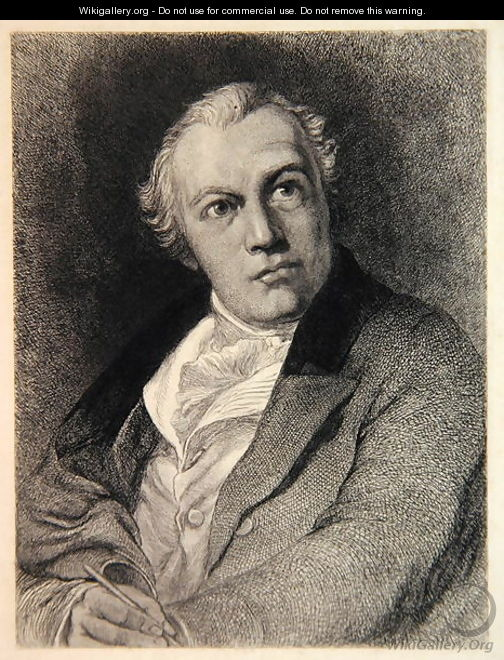 Portrait of William Blake, engraved by William Bell Scott 1811-90 - Thomas Phillips