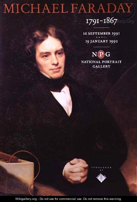 Poster for the National Portrait Gallery Michael Faraday exhibition - Thomas Phillips