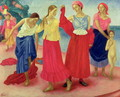 Young Women on the Volga, 1915 - Kuzma Sergeevich Petrov-Vodkin