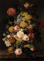 Still Life - Roses, tulips and other flowers - Franz Xaver Petter