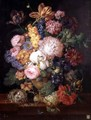 A Still Life of Flowers and Fruit - Franz Xaver Petter