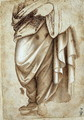 Study of a Standing Figure in Drapery - Cosimo Piero di