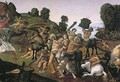 The Fight Between the Lapiths and the Centaurs, detail of Centaurs attacking the Lapiths c.1490s - Cosimo Piero di