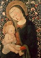 Madonna and Child seated, Child holding a Bird - (after) Pier Francesco Fiorentino