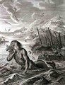 Glaucus Turned into a Sea-God, 1731 - Bernard Picart