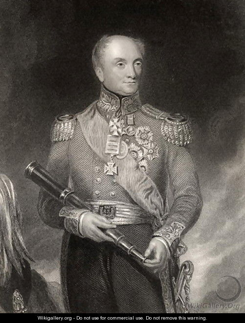 Sir Rowland Hill, engraved by W.H. Mote, from The National Portrait Gallery, Volume IV, published c.1820 - (after) Pickersgill, Henry William