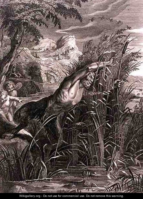 Pan Pursues Syrinx She is Transformed into a Reed, 1731 - Bernard Picart