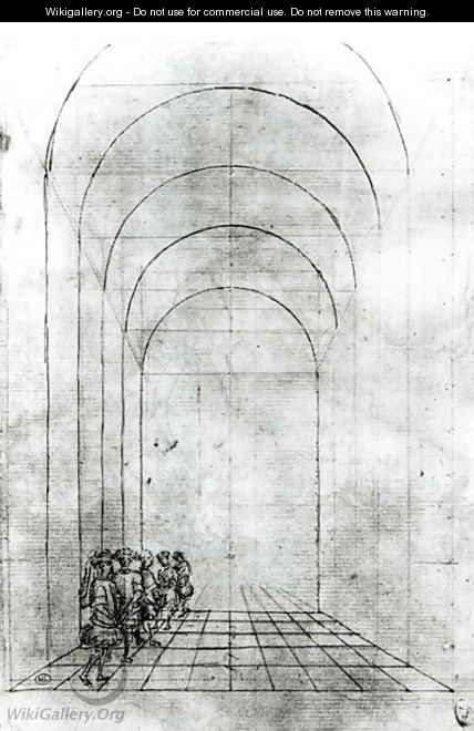 People under an Arch - Antonio Pisano (Pisanello)