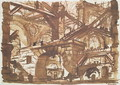 Drawing of an Imaginary Prison 2 - Giovanni Battista Piranesi
