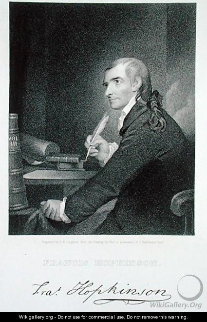 Francis Hopkinson 1738-91 engraved by James Barton Longacre 1794-1869 - Robert Edge Pine
