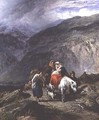 Gypsy family on a mountain track - Paul Falconer Poole