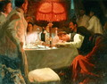 Under the Red Light, c.1910 - Lukjan Vasilievich Popov